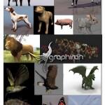 دانلود مدل های آماده حیوانات تری دی مکس ۳ds Max Animals Model