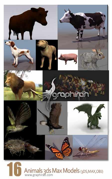 مدل های 3 بعدی انواع حیوانات
