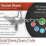 کد جی کوئری اشتراک گذاری مطالب در شبکه های اجتماعی