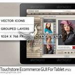 دانلود عناصر طراحی وبسایت فروشگاه لمسی مناسب برای تبلت ها