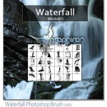 دانلود براش زیبای آبشار برای فتوشاپ Waterfall Photoshop Brush