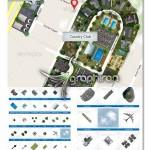 3D Master Plan Kit Google Map 150x150 مجموعه آیکون و المان های طراحی نقشه Map Icons & Elements V1