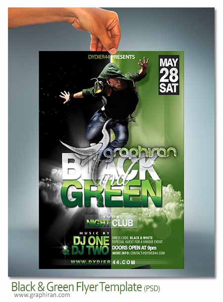 Black & Green Flyer Template
