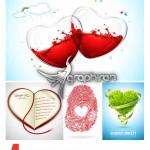 دانلود وکتور طرح های عاشقانه و خلاقانه قلب Creative Heart Vector