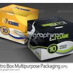 دانلود طرح بسته بندی جعبه مربعی در ۶ رنگ Box Packaging
