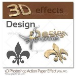 3D Photoshop Action v.1 150x150 اکشن فتوشاپ شکل های انتزاعی Bahar Effect Photoshop Action