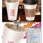 دانلود طرح ماک آپ چاپ لوگو روی فنجان قهوه Coffee Cup Mockup