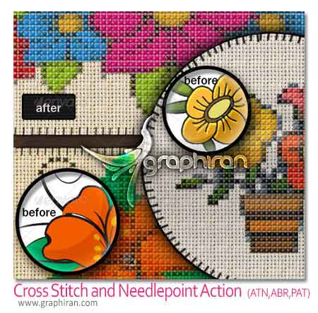 Cross Stitch and Needlepoint Action