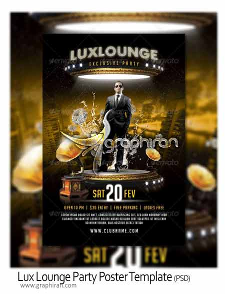 Lux Lounge Flyer Template