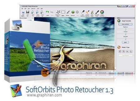 نرم افزار ترمیم و حذف اشیا از عکس SoftOrbits Photo Retoucher Pro 2.0
