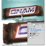 دانلود طرح ماک آپ بسته بندی شکلات Chocolate Bar Mockup