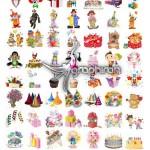 دانلود Scrap Kit تصاویر با موضوع جشن تولد در فرمت PNG