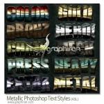 metallic style 150x150 دانلود پک ۵۰ استایل زیبا و جذاب فتوشاپ از GraphicRiver