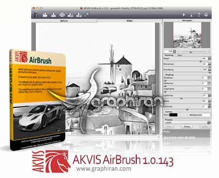 پلاگین فتوشاپ تبدیل خودکار تصاویر به نقاشی AKVIS AirBrush 2.5.2