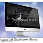 دانلود تم مشکی و شیشه ای Abyssus Dark Glass برای ویندوز ۷