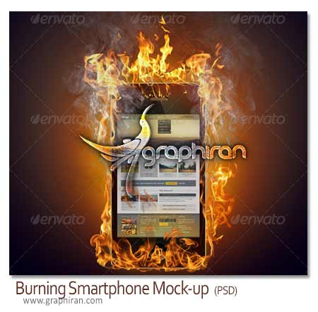 Burning Smartphone Mock-up