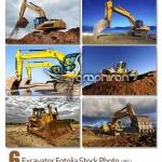 دانلود تصاویر استوک بیل مکانیکی و بلدوزر Excavator Stock Photos