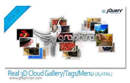 Real 3D Cloud Gallery Tags Menu