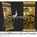 Restaurant Billboard or Banner Template 2 150x150 اکشن افکت مواد مذاب آتشفشانی Lava Rising Photoshop Action