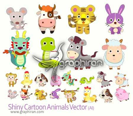 حیوانات کارتونی