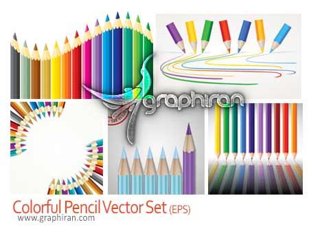 وکتور مداد رنگی