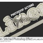 linen stitched photoshop effect 150x150 افکت مو و دور دوزی پارچه Fur & Knitted Fabric Photoshop Actions