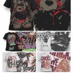 دانلود عکس های گرافیکی برای چاپ روی تی شرت با فرمت EPS و CDR