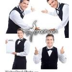دانلود عکس های استوک پیشخدمت مرد Waiter Stock Photo