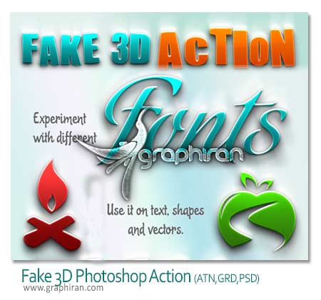 Fake 3D Photoshop Action