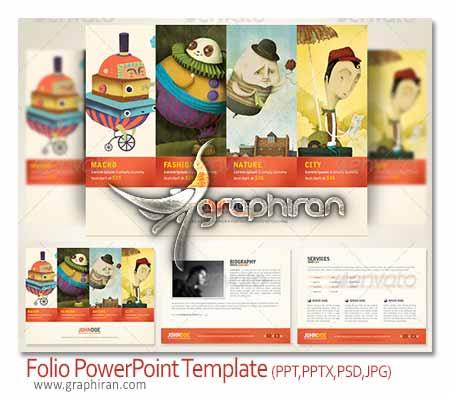Folio PowerPoint Presentation Template دانلود قالب و تم جدید پاورپوینت زیبا مناسب طراحان و عکاسان
