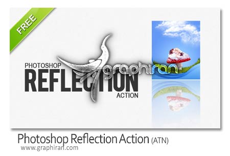 designtnt photoshop reflection action اکشن ایجاد انعکاس تصاویر در فتوشاپ Photoshop Reflection Action