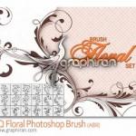 دانلود براش فتوشاپ گل و بوته های بی نظیر Floral Photoshop Brush