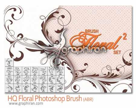 floral brush1 دانلود براش فتوشاپ گل و بوته های بی نظیر Floral Photoshop Brush