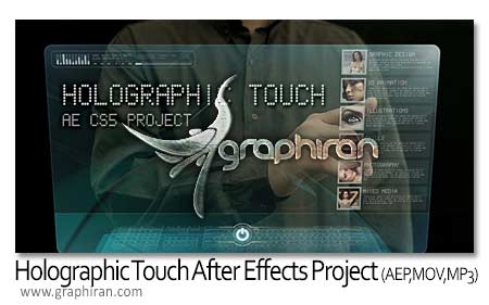 Holographic Touch After Effects Project