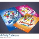 طرح پوستر لایه باز جشن تولد کودکان Kids Bithday Flyer PSD