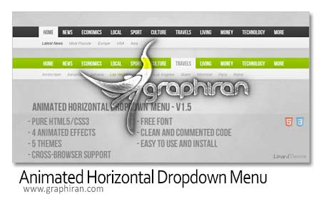 Animated Horizontal Dropdo Menu