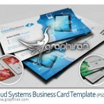 دانلود کارت ویزیت PSD با موضوع سیستم های ابری – شماره ۱۴۰