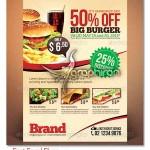 دانلود طرح لایه باز تراکت تبلیغاتی فست فود Fast Food Flyer PSD