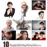 دانلود تصاویر استوک افراد با ذره بین در دست با کیفیت HD