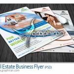 Real Estate Business Flyer 150x150 تصاویر وکتور لوگو ساختمان و مشاور املاک Real Estate Logo Set