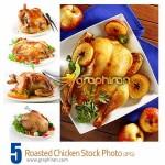 دانلود تصاویر استوک مرغ کباب شده Roasted Chicken Stock Photo
