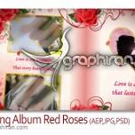 دانلود پروژه افترافکت آلبوم عکس با تم گل سرخ مخصوص مراسم عروسی