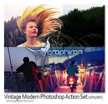 action دانلود اکشن ایجاد افکت های مدرن عکاسی برای فتوشاپ