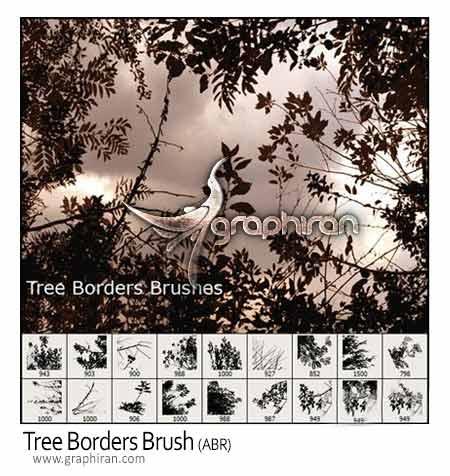 براش فتوشاپ درخت و شاخ و برگ