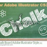 Chalk Board AI Graphic Style 150x150 استایل یخ برای ایلوستریتور Ice Illustrator Graphic Style