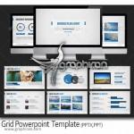 دانلود رایگان قالب آماده پاورپوینت Grid PowerPoint Template