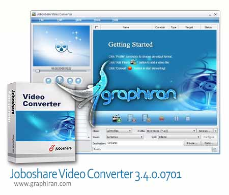 Joboshare Video Converter 3.4.0.0701