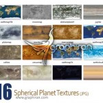 Spherical planet textures 150x150 مجموعه تکسچر و بک گراند ورق طلا Gold Foil Textures Backgrounds