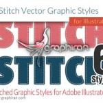 Stitched Graphic Styles for Adobe Illustrator 150x150 استایل یخ برای ایلوستریتور Ice Illustrator Graphic Style