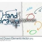 دانلود وکتور عناصر طراحی شده با دست Vector Hand Drawn Elements